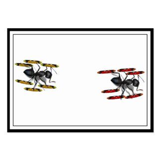 Pocas hormigas del esquí tarjeta de visita