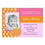 Pocas invitaciones de la fiesta de cumpleaños de l anuncio personalizado