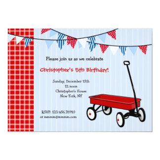 Pocas invitaciones rojas de la fiesta de invitación 12,7 x 17,8 cm