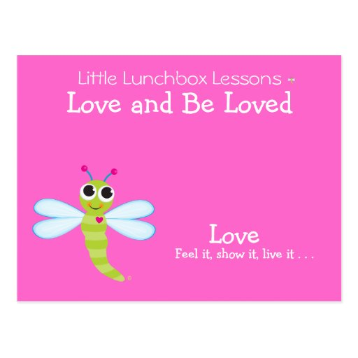 Pocas lecciones de la caja del almuerzo - amor postal