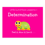 Pocas lecciones de la caja del almuerzo - determin postal