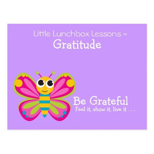 Pocas lecciones de la caja del almuerzo - gratitud postal