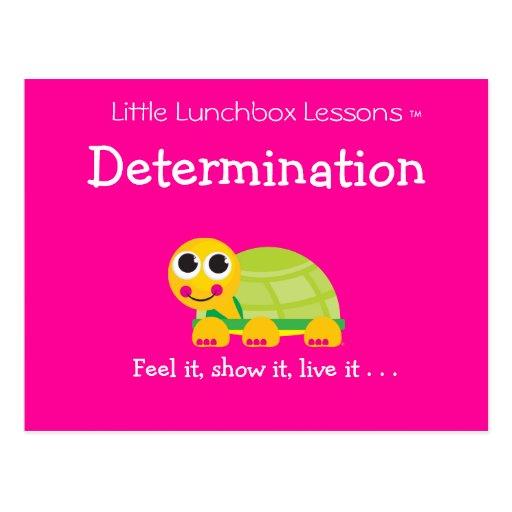 Pocas lecciones de la caja del almuerzo - postal
