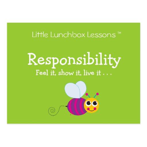 Pocas lecciones de la caja del almuerzo - responsa tarjetas postales