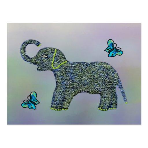 Pocas postales del elefante del jade