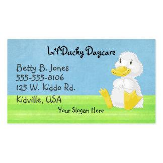 Pocas tarjetas de visita Ducky blancas