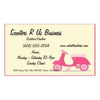 Pocas tarjetas de visita rosadas de la vespa