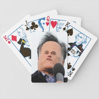 Pocas tarjetas del mitón de la cara baraja de cartas