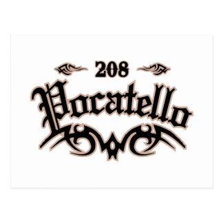 Pocatello 208 postcard