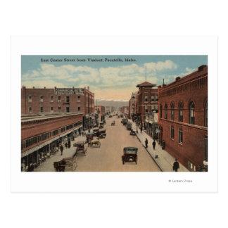 Pocatello, ID - View of E. Center Postcard