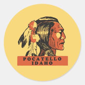 Pocatello Idaho Classic Round Sticker