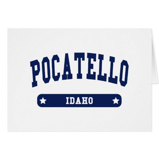 Pocatello Idaho College Style tee shirts Greeting Card