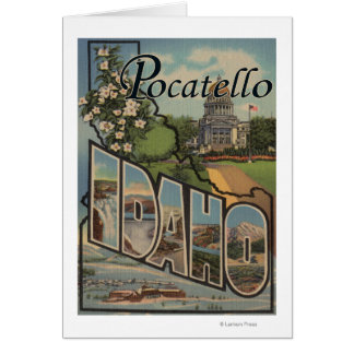 Pocatello, Idaho - Large Letter Scenes Card