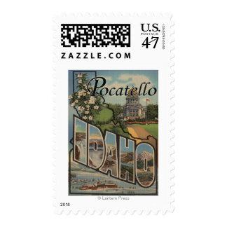 Pocatello, Idaho - Large Letter Scenes Postage