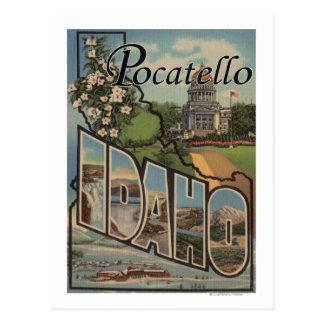Pocatello, Idaho - Large Letter Scenes Postcard