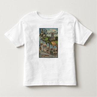 Pocatello, Idaho - Large Letter Scenes T Shirt
