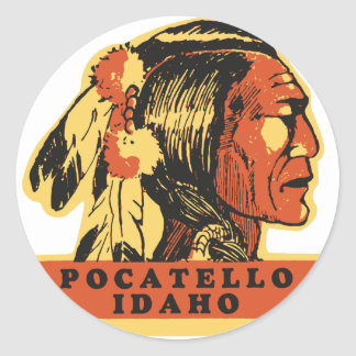 Pocatello Idaho Pegatina Redonda