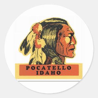 Pocatello, Idaho Pegatina Redonda