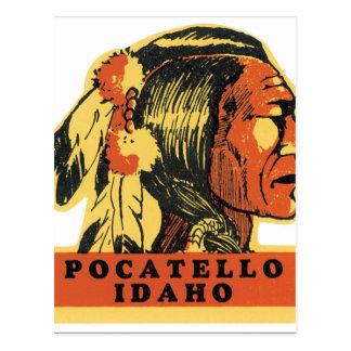 Pocatello Idaho Vintage Travel Poster Artwork Postcard