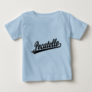 Pocatello script logo in black t-shirt