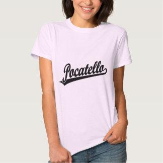 Pocatello script logo in black t shirt