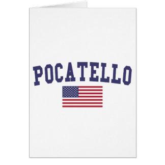 Pocatello US Flag Card