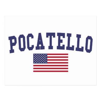 Pocatello US Flag Postcard