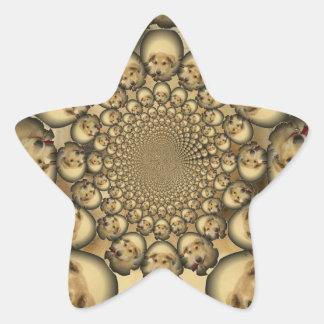 Pocilga asombrosa del infinito de los perritos y pegatina en forma de estrella