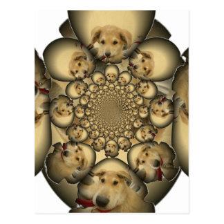 Pocilga asombrosa del infinito de los perritos y postales