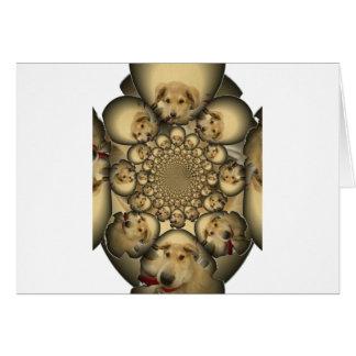 Pocilga asombrosa del infinito de los perritos y tarjeta de felicitación