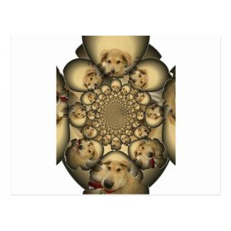 Pocilga asombrosa del infinito de los perritos y tarjetas postales