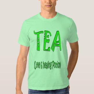 Poción curativa del nivel 6 del té remeras