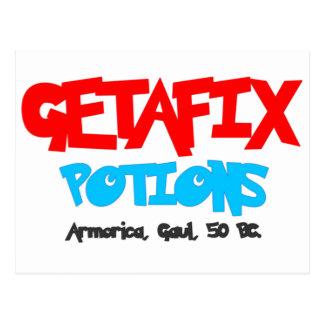 Pociones Galia de Getafix Tarjetas Postales