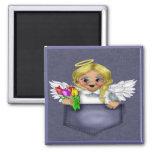 Pocket Angel Blonde Refrigerator Magnets
