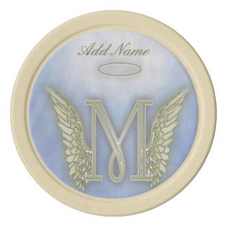 Pocket Angel Monogram Letter M Poker Chip Set
