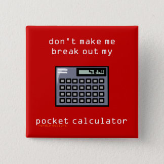 pocket calculator button