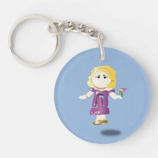 Pocket doll Single-Sided round acrylic keychain