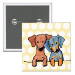 Pocket Doxie Duo Pinback Buttons