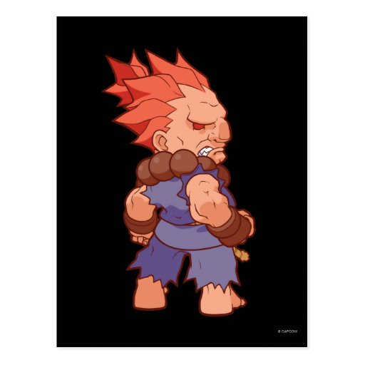 Pocket Fighter Akuma 2 Postcard