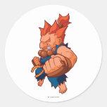 Pocket Fighter Akuma Classic Round Sticker
