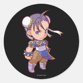 Pocket Fighter Chun-Li 2 Classic Round Sticker