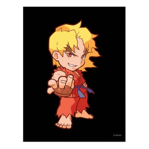 Pocket Fighter Ken 2 Postcard