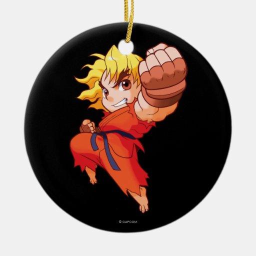 Pocket Fighter Ken Ceramic Ornament