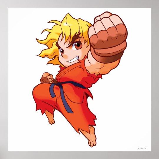 Pocket Fighter Ken Poster
