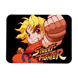 Pocket Fighter Ken Rectangular Magnets
