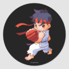 Pocket Fighter Ryu 2 Classic Round Sticker