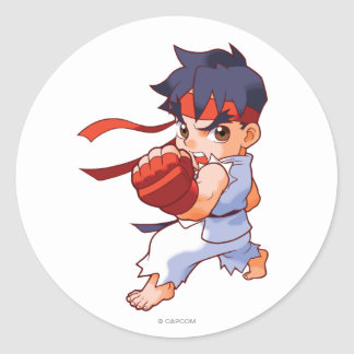 Pocket Fighter Ryu 2 Classic Round Sticker