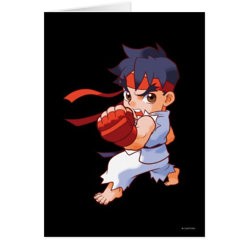 Pocket Fighter Ryu 2 Greeting Card