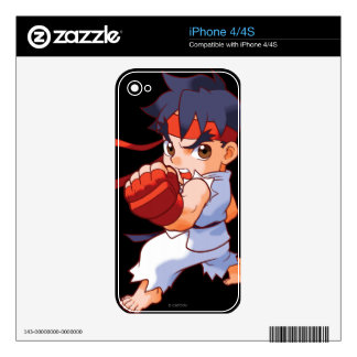 Pocket Fighter Ryu 2 iPhone 4 Skins