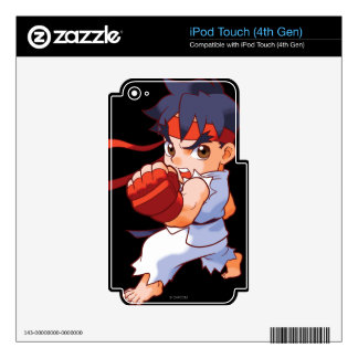 Pocket Fighter Ryu 2 Skins For iPod Touch 4G